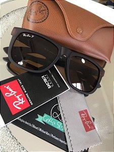 Óculos de Sol Ray Ban Justin Marrom RB 4165