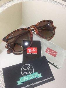 Óculos de Sol Ray Ban Chris Tartaruga Marrom Degradê
