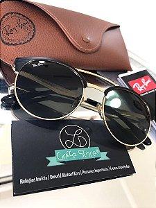Óculos de Sol Ray Ban Round Shape Lente Verde RB3545