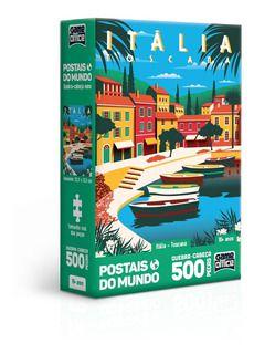 Quebra Cabeça 500 Peças Itália Toscana  - Toyster