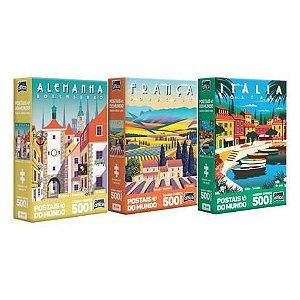 Kit Quebra-Cabeça Postais Alemanha- França- Italia Toyster