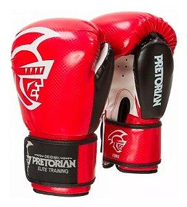 Kit De Boxe/Muay Thai Pretoroan Elite Vermelha 12 Oz