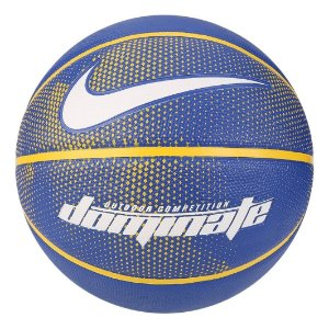 Bola De Basquete Nike Dominate 8p Tamanho 7 - Azul / Amarelo