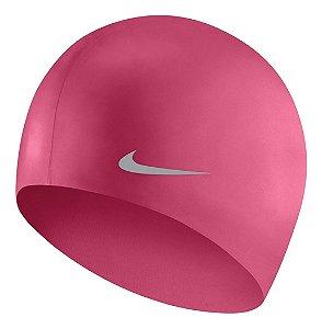 Touca De Natação Nike Solid Silicone Junior Cap - Rosa