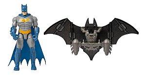 Batman  Mini Figura De Luxo 10 Cm Com Armadura Sunny 2183