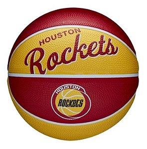Bola Basquete Nba Team Retrô Mini Houston Rockets 3 Wilson
