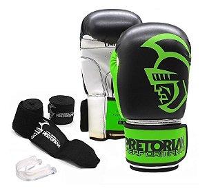 Kit Boxe/Muay Thai Pretorian Performance Verde