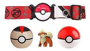 Pokémon Figura Growlithe Com Cinto E 2 Pokebola 2607 - Sunny