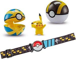 Pokémon Figura Pikachu Com Cinto E 2 Pokebola 2607 - Sunny