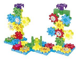 Brinquedo Educativo De Montar Infantil Engrenagem Com 63 Pçs