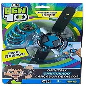 Relógio Ben 10 Lançador De Disco Omnitrix  Sunny Disco Azul