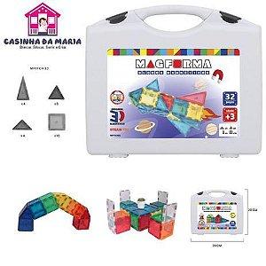 Brinquedo Educativo Magnético Mag Forma 32 Pç