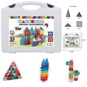 Brinquedo Educativo Magnético Mag Forma Maleta 90 Pç