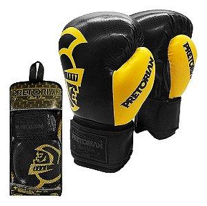 Luva Muay Thai Boxe Pretorian - Black Line Preta e Amarela