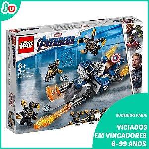 Lego Marvel Avengers 76123 Capitão América Ataque Outriders
