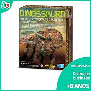Kit de Escavação 4M Kidzlabs Dinossauros - Tricerátopo