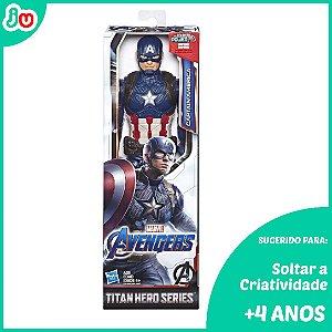 Boneco Capitão América Titan Hero Series Vingadores Hasbro