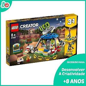 Lego 3 em 1 Creator 31095 Carrossel e Parque De Diversões