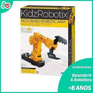 Brinquedo STEM Braço Motorizado Robótica 4M KidzRobotix