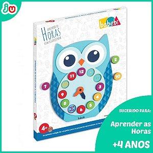 Brinquedo Educativo Relógio da Corujinha Babebi +4 anos