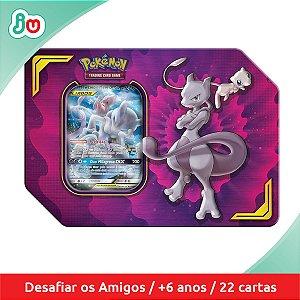 Pokémon TCG Lata Parceria Poderosa Mewtwo e Mew