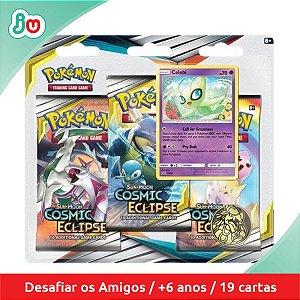 Blister Triplo Pokémon TCG Eclipse Cósmico - Celebi