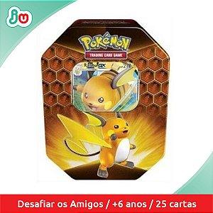 Pokémon Lata Destinos Ocultos Raichu GX 25 cards