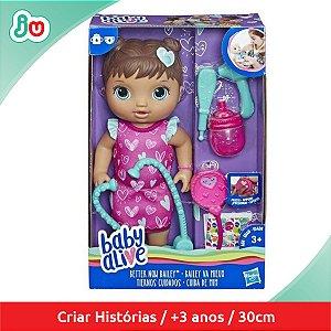 Boneca Baby Alive Cuida de Mim Morena Hasbro