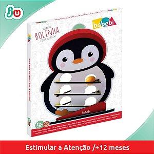 Brinquedo Criativo Rolando Bolinha com o Pinguim Babebi