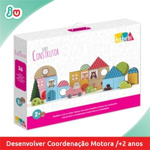 Brinquedo de Coordenação Motora Baby Construtor Babebi