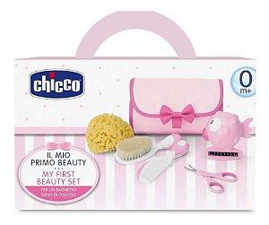 Conjunto De Higiene Cuidados Do Bebê Rosa Menina Chicco