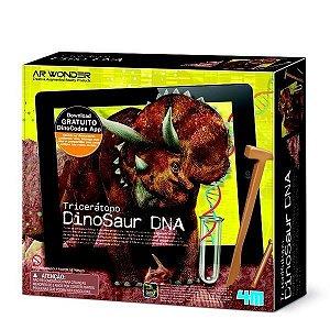 Kit Escavação e Realidade Aumentada Tricerátopo Dino Dna 4m