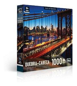 Quebra-cabeça P1000 Paisagens Noturnas Ponte Manhattan