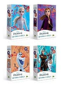 Kit 4 Quebra-cabeças Nano 60 Pçs Cada - Frozen 2 - Toyster