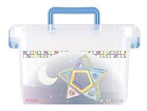 Brinquedo Educativo Magnético Mag Forma Maleta Vazado 62 Pç