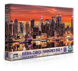 Quebra Cabeça Panorâmico Skyline De Manhattan 1500 Peças