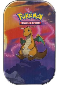 Mini Lata Pokémon Dragonite Poder De Kanto Cartas