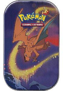 Mini Lata Pokémon Charizard Poder De Kanto Cartas