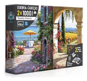 Recantos Italianos  Puzzle/quebra Cabeça2x1000 Peças Toyster