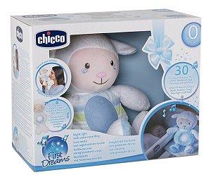 Pelúcia Ovelha Doce Soninho Azul Com Som E Luz Chicco 45892