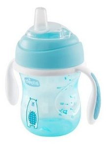 Copo Transition Cup Azul 4m+ 200ml - Chicco Azul Urso