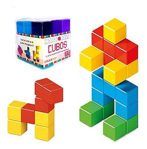 Blocos De Montar Cubo Magnético  22 Peças Magforma