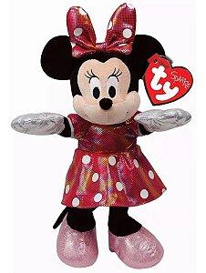 Pelúcia Minnie Mouse Beanie Babies- Dtc Ty