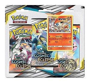Pokémon Blister Triplo Sol E Lua 12 Eclipse Cósmico Victini