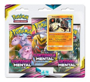 Pokémon Tcg Triple Pack Sm11 Sintonia Mental  Stakataka
