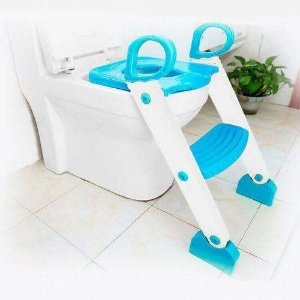 Redutor De Assento Com Escada Degrau Clingo Azul