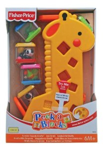 Girafa Pick a Block Fisher Price Mattel