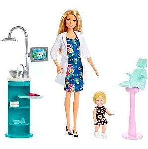 Barbie Profissões Dentista Loira Mattel