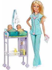 Boneca Barbie Profissões Médica Pediatra - Mattel