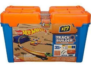 Hot Wheels  Track Builder Kit Completo Mattel Box Azul
